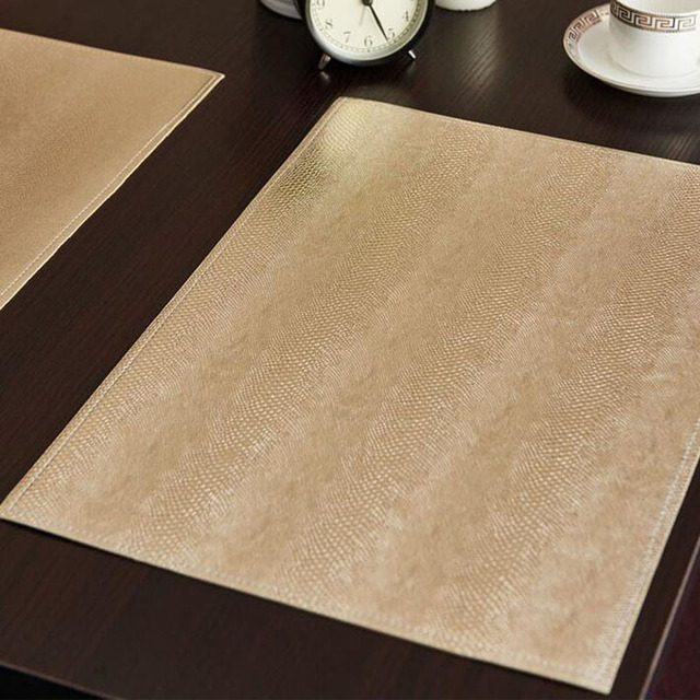 Etonnant 12pcs Placemat Leather Table Mats For Dining Absorption Waterproof Coasters  Insulation Kitchen Table Mats Non
