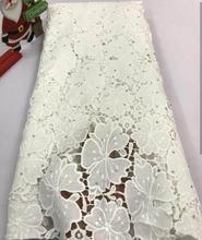 Swiss lace fabric cord white haute couture BC188