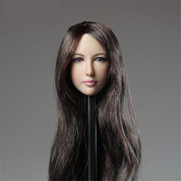 Mnotht 1 6 Jade Dynasty Female Solider Head Carving With Long Hair Beauty Carved Head Model