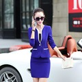 New 2016 Fall Formal Women Skirt Suits Hot Sale OL Elegant Style Uniform Work Wear Female Blazer Suit with Skirt and Jacket Sets