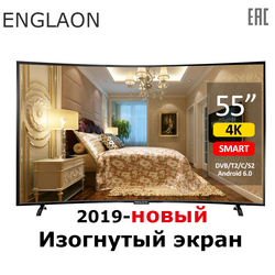 Tv 55 Inch 4K Smart Tv Android 7,0 DVB-T2 Gebogen Digitale Tv Uhd Led Tv