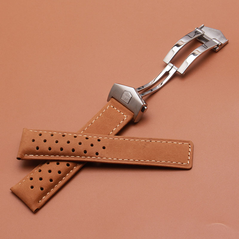 Genuine Leather Watchband men Brown Strap For brand watches luxury watch accessories 22mm 24mm New Hot Free Tools