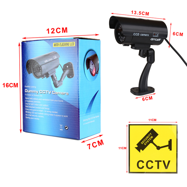 Waterproof Dummy Fake CCTV Camera With Flashing LED For Outdoor or Indoor Realistic Looking fake Camera for Security