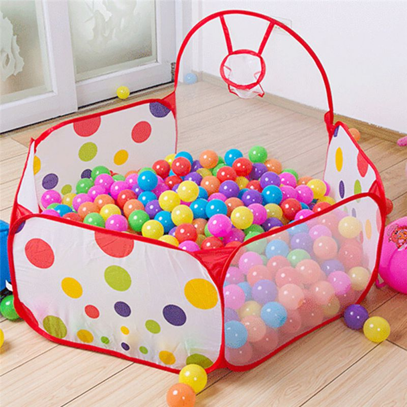 Kids House Play Hut Pool Storage Bags Play Tent Children Kid Ocean Ball Pit Pool Game Play Tent In/Outdoor