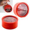 Simple Novelty Safe Round Red Money Box Saving Bank In Case Of Emergency Coin Smash Gadget Piggy Bank