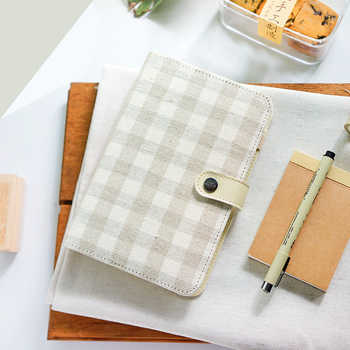 2019 Japanese Personal A5&A6 Begie Linen Classic Cover Travel Journal Binder Office School Dairy Journal Notebook Planner Agenda - DISCOUNT ITEM  29% OFF All Category