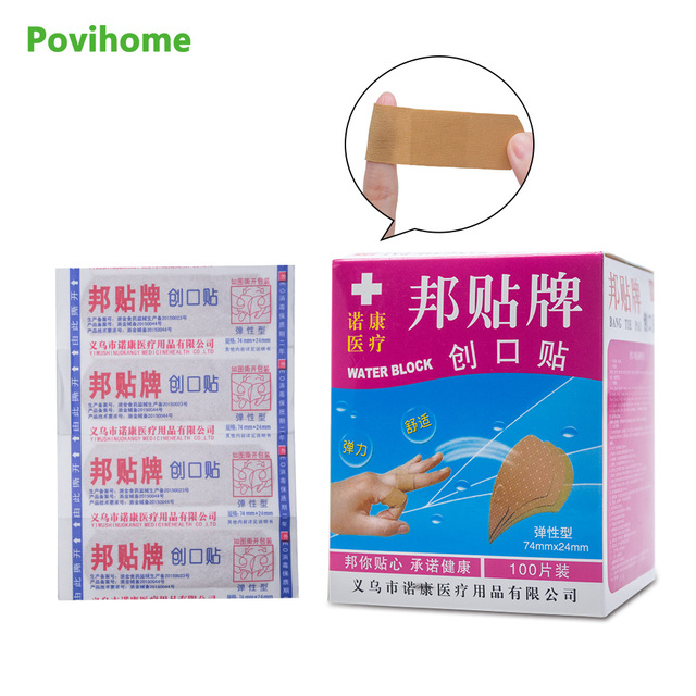 60pcs finger first aid supplies joint elastic adhesive bandages band aid wound paste stickers - First Aid Supplies
