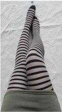 40pcs fast shipping Striped Sexy Stocking Women Girls Temptation Sheer Mock Suspender Tights Pantyhose Stockings