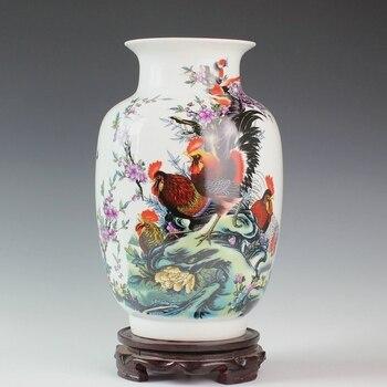 Jingdezhen ceramic powder caici vase ceramic bottle gourd decoration