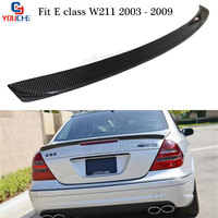 W211 AMG Style Carbon Fiber Rear Spoiler Wing for Mercedes W211 E Class 4 door Sedan 2003 2009 E200 E280 E320 E350 E500 E550