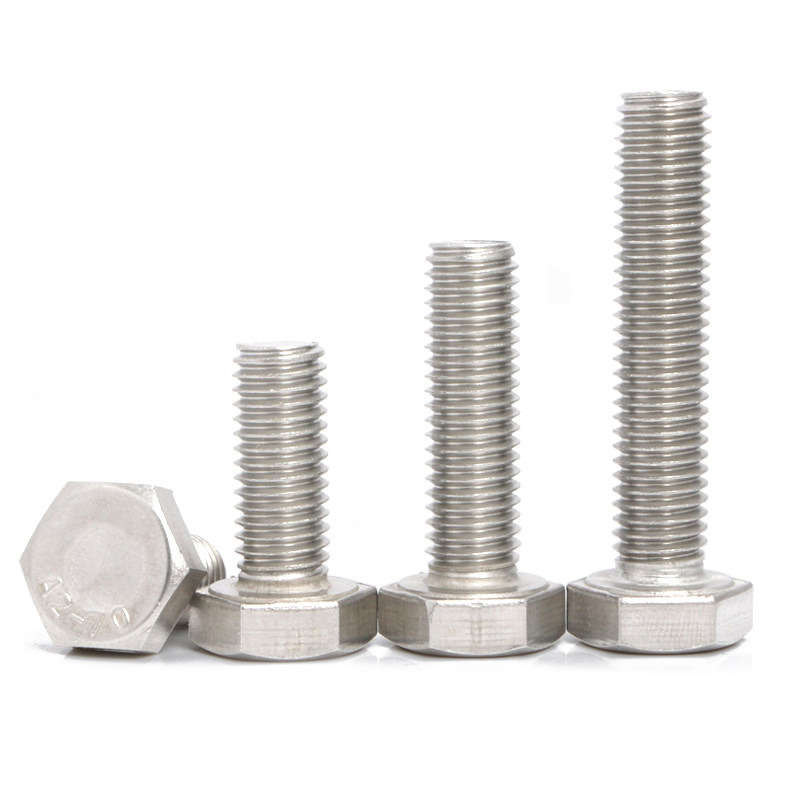 Hex Flat Head Bolt Metric Machine Metal Threaded Hexagon Screws Fastener Set 304 Stainless Steel M6 M8 Hex Flat Head Bolt Metric Machine Metal Threaded Hexagon Screws Fastener Set 304 Stainless Steel M6 M8