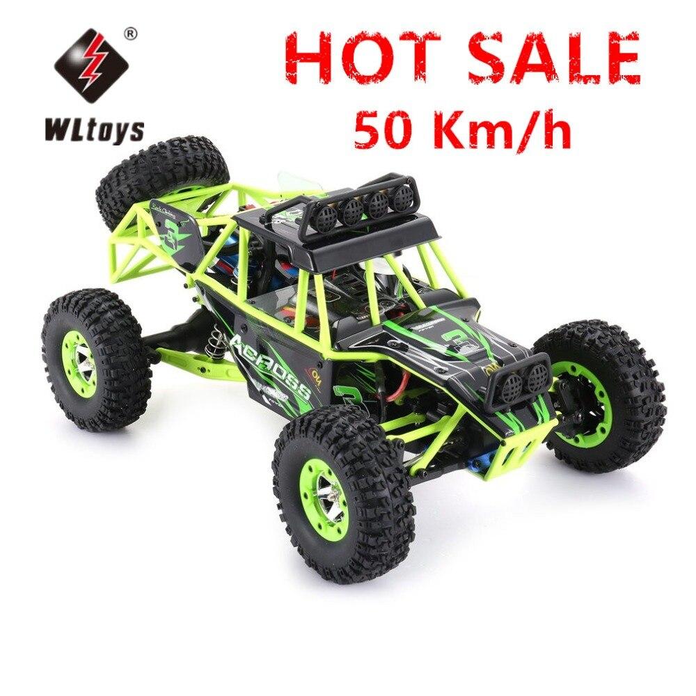 Wltoys 12428 взрослый 1/12 RC гоночный автомобиль внедорожный автомобиль водостойкий 4WD 50 км/ч/ч высокая скорость 2,4 г EU/US штекер 540 матовый мотор дрей...
