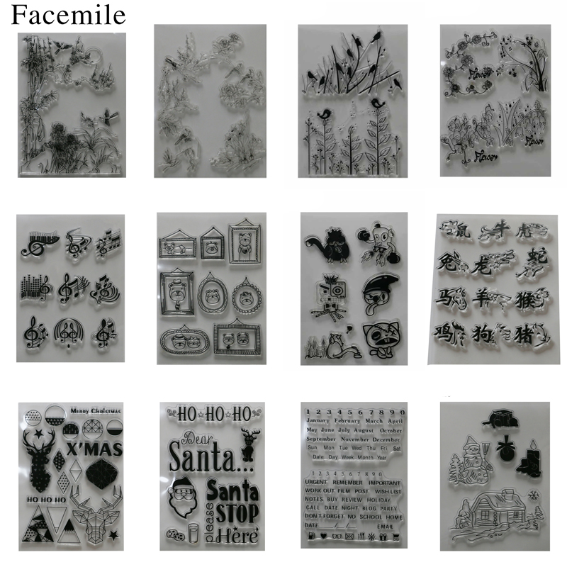 gift For Alphabet Flower Transparent Silicone Clear Rubber Stamp Sheet Cling Scrapbooking DIY Decoration lovely animals and ballon design transparent clear silicone stamp for diy scrapbooking photo album clear stamp cl 278