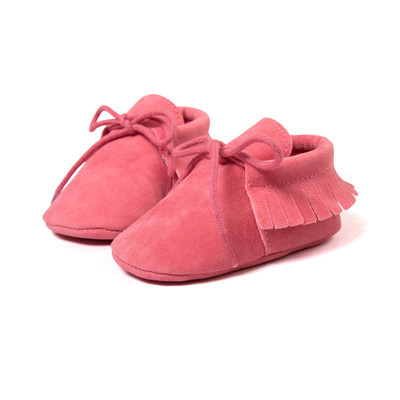 2019 New style  PU  Leather soft sole  Fringe Infant  Baby Boy Girl mocassion shoes  infant  Non-slip Lace-up baby crib shoe 5