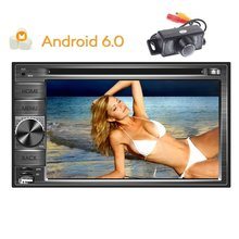 Camera+GPS Android Car Stereo 4-core 6.0 Car Radio Stereo Support GPS Navigation DVD Video 1080P Player in Dash FM AM RDS Radio