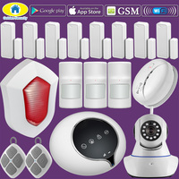 Golden WiFi GSM WIFI Home Alarm ระบบความปลอดภัยไร้สาย Pet Immune IP กล้อง Window Alarm APP Control