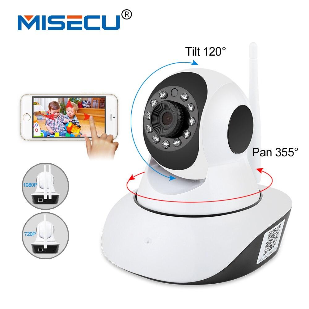 MISECU Pan Tilt 1080 P Wifi Pleine rotation de 355 degrés 720 P caméra Audio Sans Fil Carte SD P2P alerte Email Nuit Bébé moniteur