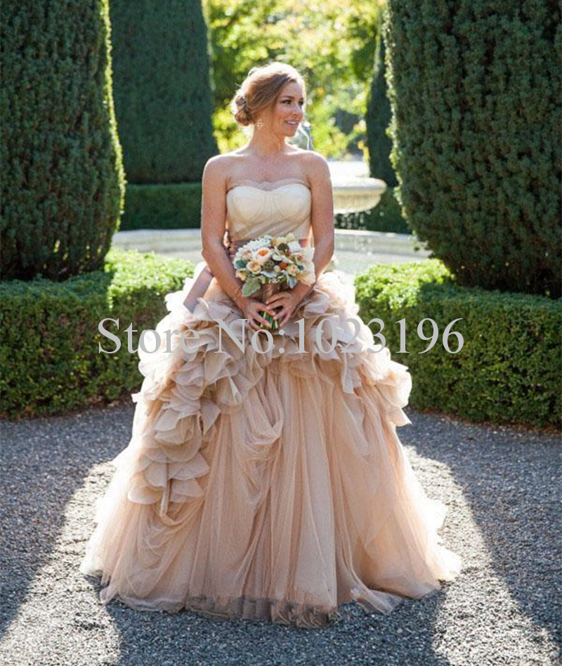 Online get cheap champagne cheap alibaba for Cheap champagne wedding dresses
