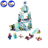 Lepin 25005 Girl Friends Princess Elsa S Sparkling Ice Castle Anna Elsa Queen Kristoff Olaf Toys