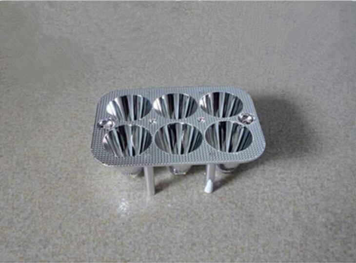 XADR-90 High quality Led Reflector Cup, Headlight Reflective Cup, Size: 90X66mm, Degree: 10, Surface: Plating, PC Materials