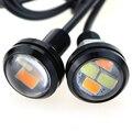 10 pçs/set 23mm Car styling LED DRL Eagle Eye Daytime Runing luzes de Advertência Luzes de Nevoeiro com Virando Luz de Sinalização Frete Grátis DJ