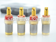 Free shipping AB-303(G) High End Gold Plated Binding Post speaker connector Power Amplifier Connector