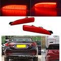Car-styling 2 UNIDS LED Rear Bumper Reflector Luz de Freno de Parada para Atenza Mazda6 Mazda2 Mazda 3 Axela DY (CA240) calidad Garantizada
