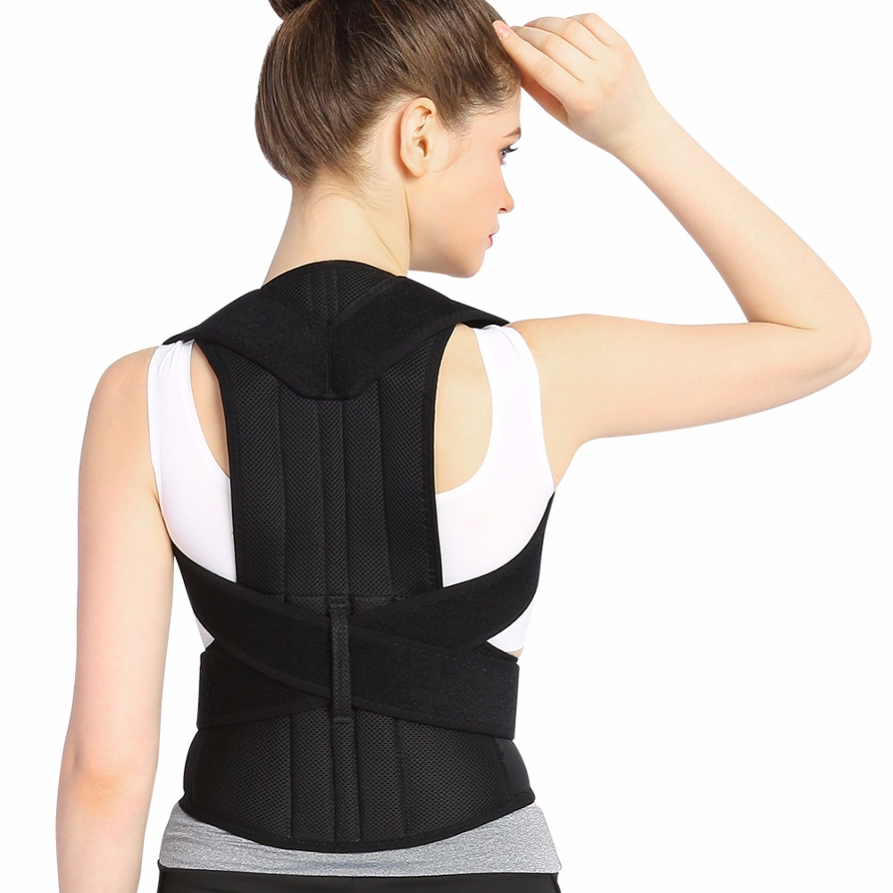 Adult Back Brace Corset Posture Corrector Shoulder Bandage Medical Lumbar Support Therapy Belt Posture Correction For Men Women