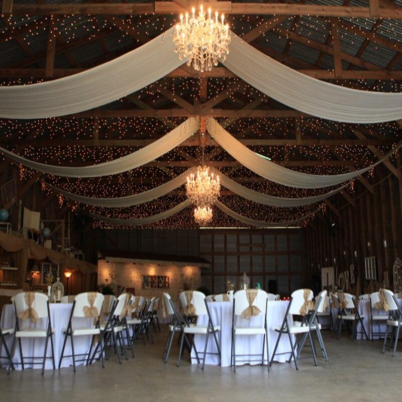 10 Stucke Decke Vorhange Hochzeit Veranstaltung Party Deko Drapieren