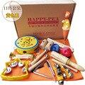 Menino E Menina de Aprendizagem Brinquedo De Madeira instrumentos Orff Definir Instrumento Musical set brinquedos Infantis 11 pcs por conjunto