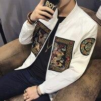 Весна Курточка бомбер Для мужчин 2018 Новая мода китайский длинные ПАО Куртки Для мужчин Slim Fit с длинным рукавом Повседневное Для мужчин S Пальто для будущих мам ветровка 5xl-m