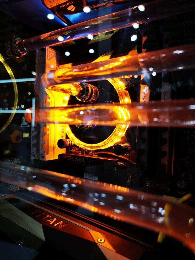 Купить с кэшбэком Barrow CPU Water Block use for INTEL X99 X299 / LGA 2011 2066 Socket Acrylic + Copper Radiator Block + 5V GND RGB Support AURA