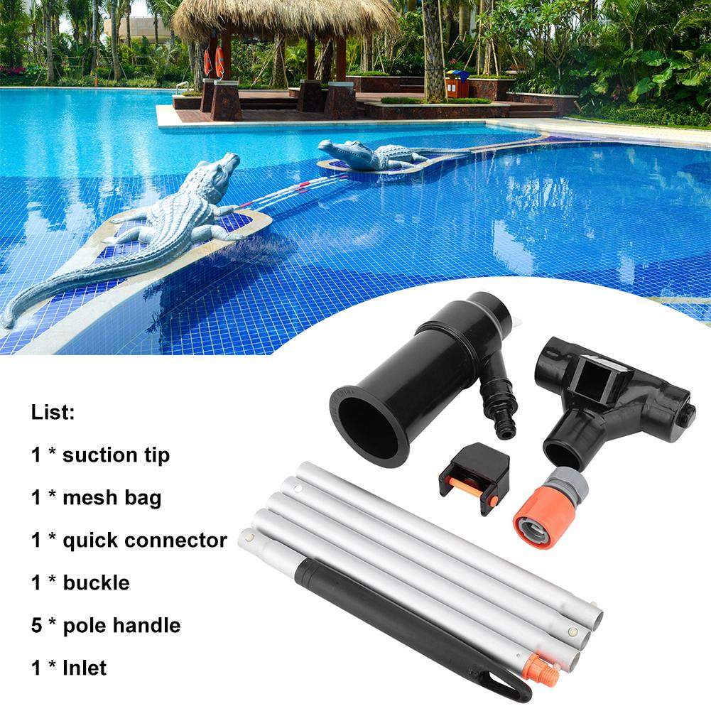 Swimming Pool Cleaning Kit Vacuum Spray 5 Pole Section Outdoor Portable Cleaning Vacuum Cleaner Suction Tool Very Practical