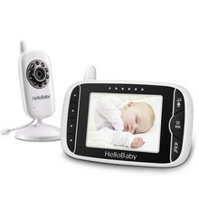 цена на 3.2Inch HelloBaby Wireless Video Color Baby Monitor with Night Vision & 2 Ways Talking Rechargeable Battery 8 Lullabies Moinitor