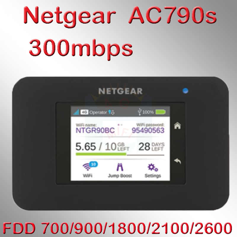Unlocked cat6 300mbps netgear AC790S Aircard 790s 4g lte mifi router dongle 4G LTE pocket wifi router 4g lte router met sim auto