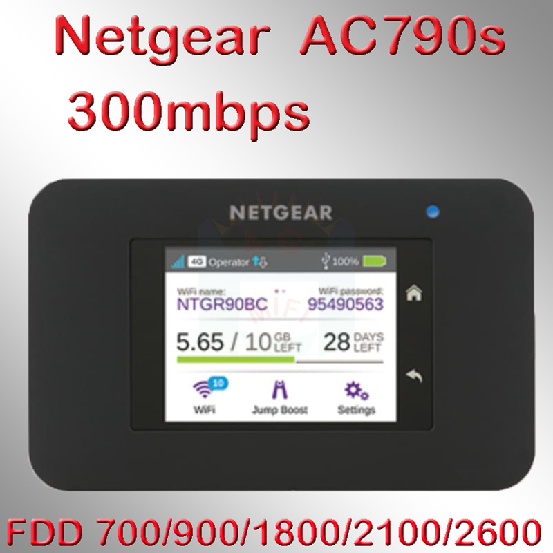 Unlocked Cat6 300mbps Netgear AC790S Aircard 790s 4g Lte Mifi Router Dongle 4G LTE Pocket Wifi Router 4g Lte Router With Sim Car