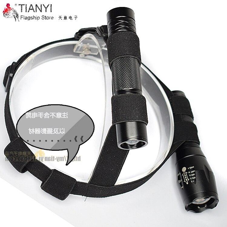 Крепление на голову, черный ремешок на голову, крепление на голову, фиксированный ремешок для аккумулятора 18650, фонарик, диаметр 20-25 мм, фонарь