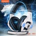 Zeepin sades sa-903 7.1 canais de som surround usb gaming headset fone de ouvido com fio com controle de volume do microfone com cancelamento de ruído