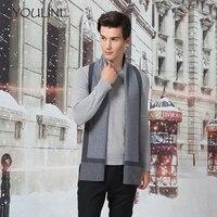 Шарф Для мужчин кашемир сплошной Цвет зима Элитный бренд мягкий теплый платок человек 2018 модельер Bussiness Повседневное мужские шарфы