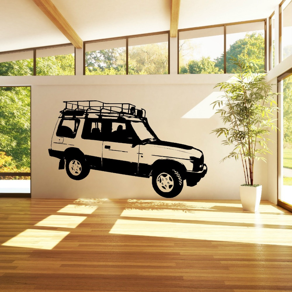 FOR LAND ROVER DISCOVERY 4 WHEEL DRIVE VEHICLE CAR WALL ART STICKER ...