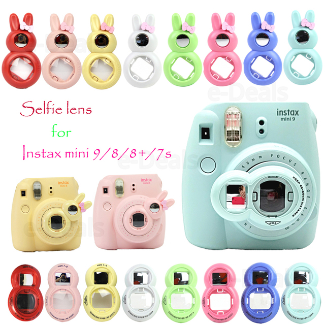 Close-up Lens With Selfie Mirror With Rabbit Classic Design for Fujifilm Instax FUJI Instant Mini 9 7s 8 8plus Photo Camera