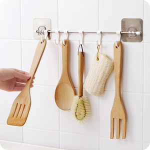 Image 4 - Küche Gabgets Schrank 6 Haken Startseite Organizer Lagerung Rack Speisekammer Brust Werkzeuge Handtücher Aufhänger Schrank Handtuch Rack Lagerung Regal