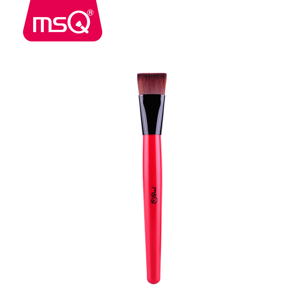 MSQ Brand  Pro Single Red Wood Handle High Quality Synthetic Hair Foundation Makeup Brush Cosmetic Make up Pen Beauty Tool brand msq high quality synthetic hair foundation makeup brush with painted wood handle for fashion beauty new cosmetic tool