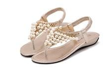 จัดส่งฟรี2015มุกลูกปัดทองรองเท้าแตะรองเท้าสบายผู้หญิงรองเท้าแตะA52-9