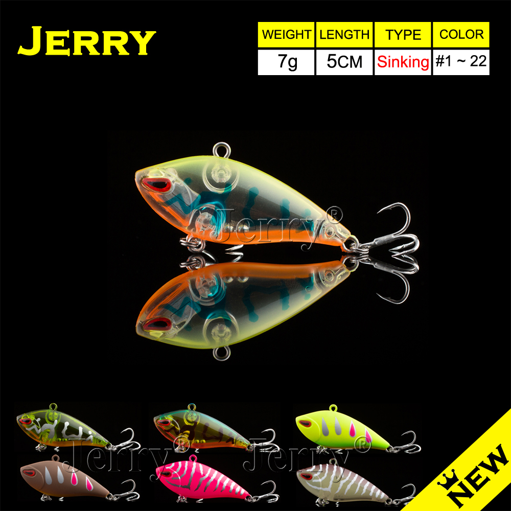 Jerry 5cm sinking vibration lure lipless crankbait VIB lures artificial fishing lures hard plastic bait isca VIBE sealurer 5pcs fishing sinking vib lure 11g 7cm vibration vibe rattle hooks baits crankbaits 5 colors free shipping