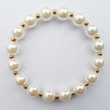 Fashion 10MM Pearl beads Summer wear bracelet jewelry for women,2015 top sale Imitation pearl bracelet good quality low price