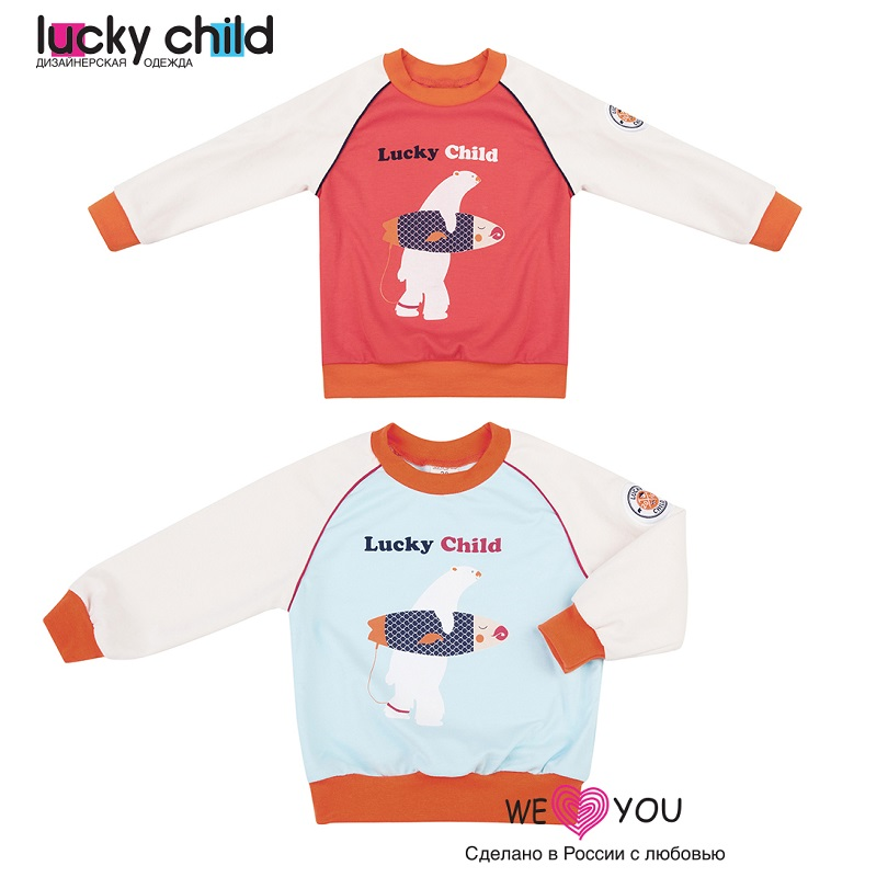 Sweater & Sweatshirts Lucky Child for boys 32-12f Kids Sweatshirt Baby clothing Children clothes Jersey Blouse Hoodies cm100du 12f module