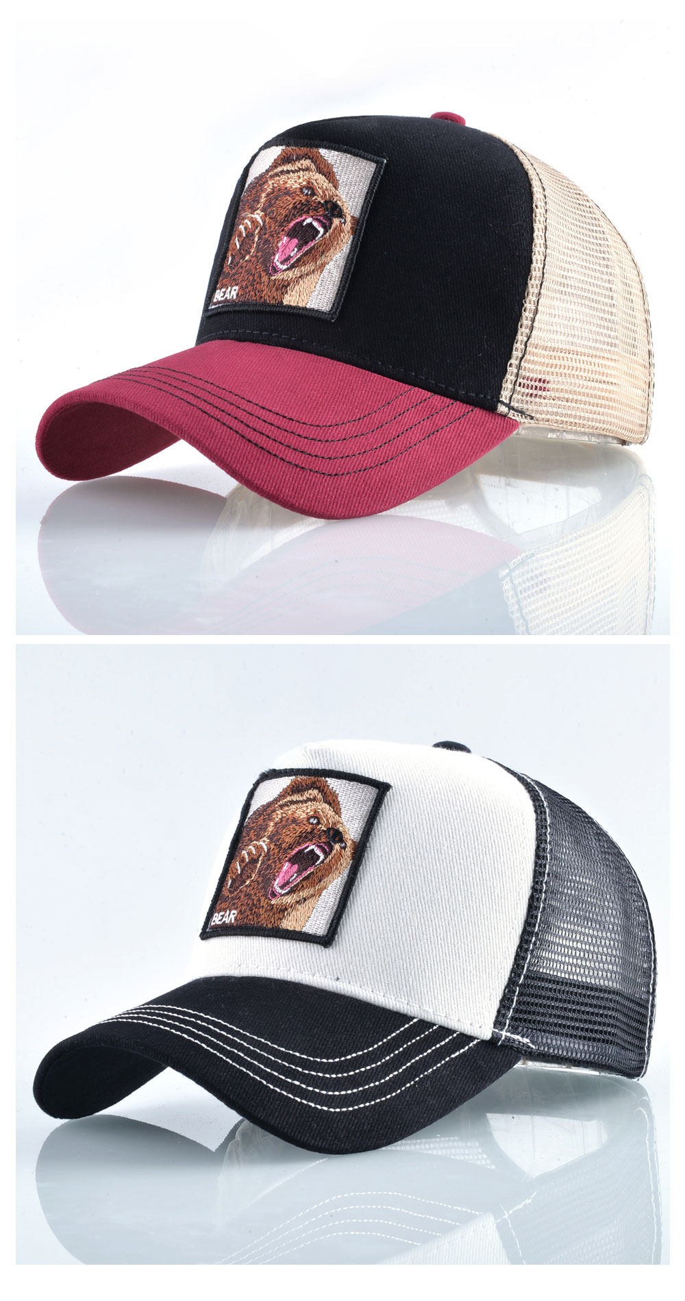 Embroidered Mesh Hats