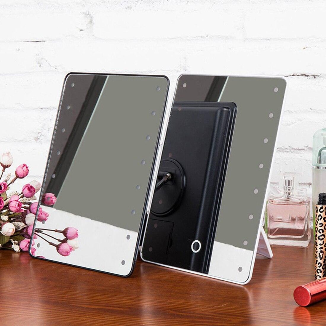 FäHig 6led Licht Hiigh-glanz Illuminator Machen Up Spiegel Desktop Kosmetik Spiegel Make-up-tools Und Zubehör Schminkspiegel