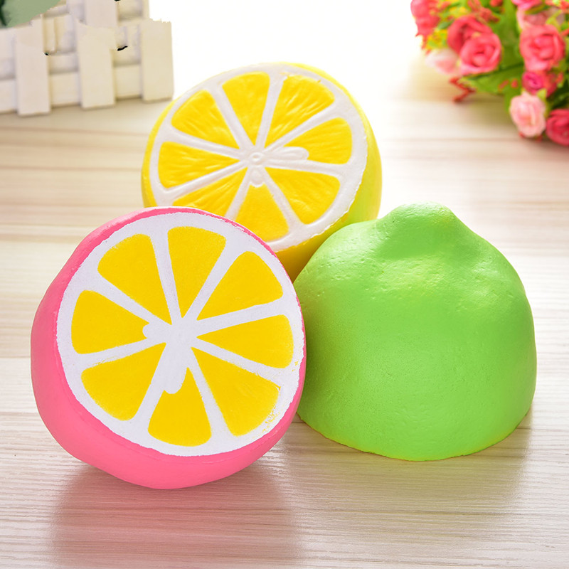Fun Novelty Gag Stress Relief Toys Antistress Squishy Slow Rising Squishe Lemon Gags Practical Jokes Anti-stress Gadget